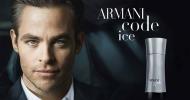 Chris Pine debuts Armani Code Ice